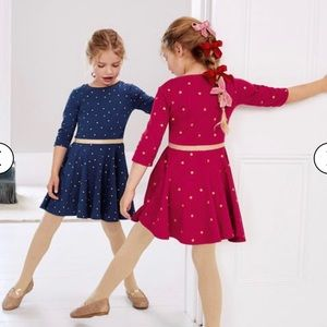 NWT Mini Boden Spotty Skater Dress